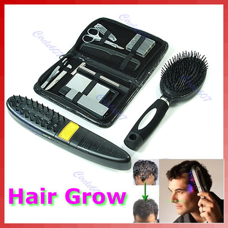 Free Shipping Laser Treatment Power Grow Comb Kit Stop Hair Loss Hot Regrow Therapy New Sale free shipping 2016 new arrival usb rechargeable electric laser hair growth massager comb brush for hair loss treatment