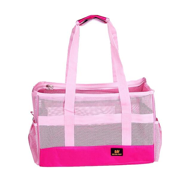 5836e887cb3d Cute Pink Dog Carrier Summer Pet Dog Carrier Bags Anti Scratch Breathable  Mesh Cat Portable Shoulder Bag Cute Puppy Car Bag