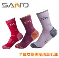 The Half Thick Female Of SANTO Shan Tuo Beautiful Nora Wool Socks Outdoor Fast Dry Socks