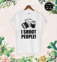 Iยิงคนเสื้อยืดผู้หญิงตลกช่างภาพภาพการถ่ายภาพกล้องพิมพ์ลำลองสุภาพสตรีแขนสั้นTeeสหรัฐขนาดX...