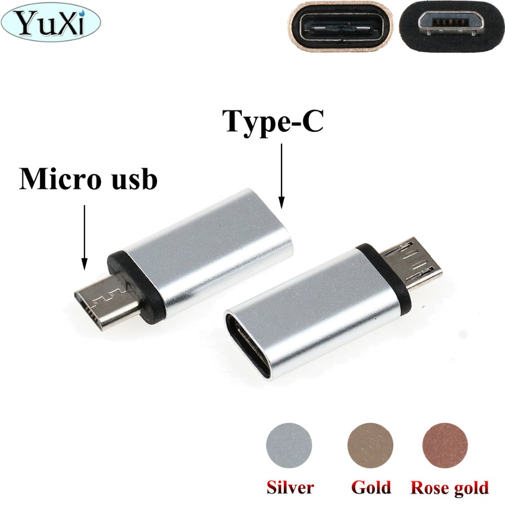 YuXi 2pcs Type-c Otg Adapter Micro Usb To Type C Charger Connectors For Samsung Galaxy S8 S9 Plus Note Typec To Usb-c Usbc Cable