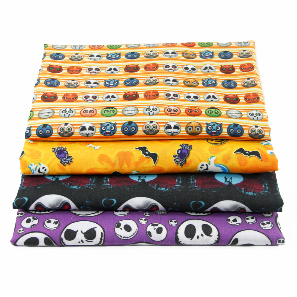 David accessories 50*145cm halloween patchwork Polyester cotton fabric for Tissue Kid Bedding home textile Sewing,1Yc472