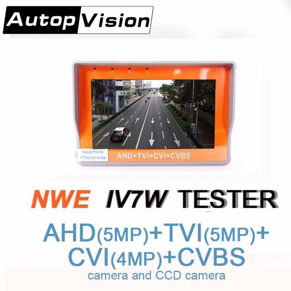 CCTV Security Camera Tester 1080P / 5MP AHD & CVBS & 5MP TVI & 4MP CVI 4-in-1 Analog Video Tester With Network Cable Dorpshpping