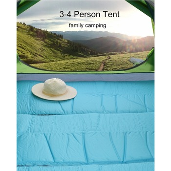 Desert&Fox 3-4 Person Family Tent, Lightweight Portable Alumimun Pole Waterproof Anti-Storm Double Layer 4 Season Camping Tent 2