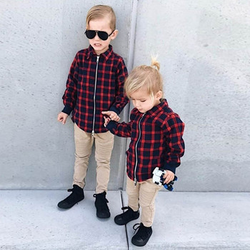 MUQGEW Newborn Toddler Infant Baby Boys Clothes Long Sleeves Plaid Kids Clothing Tops Jaket Baby Girl Winter Clothes Coat Jacket одежда на маленьких мальчиков