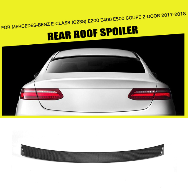 Carbon Fiber Frp Black Rear Roof Spoiler Window Wing For Mercedes
