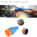 Powerful Outdoor Self-defense Pocket Shot Slingshot Round Ball Game Toy Shooting Cup Device Hunting No Box No Bullets