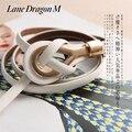 [Diniou] moda 9 Color de Alta Calidad de Oro Hebilla de Metal Correa Para Las Mujeres 2016 Nuevos Cinturones de piel de Cerdo de Cuero Casual Marca Cintos DP007
