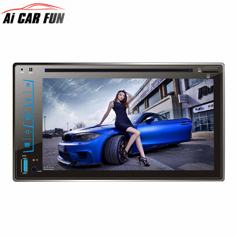 FY6205C 6.2 2 Din DVD Player HD Capacitive Touch Screen Car Bluetooth Stereo CD/MP3/FM/AM/USB/SD/AUX-IN Receiver MP4 MP5 Player promotion 7pcs baby bedding set for children s bed crib set crib bedding bumper duvet matress pillow