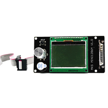 MKS Mini 12864LCD Display 128x64 Controller Stand Inserted SD Card For 3D Printer Marlin 3d printer control panel mks smelzi melzi lcd2004 set marlin firmware 3d mainboard motherboard