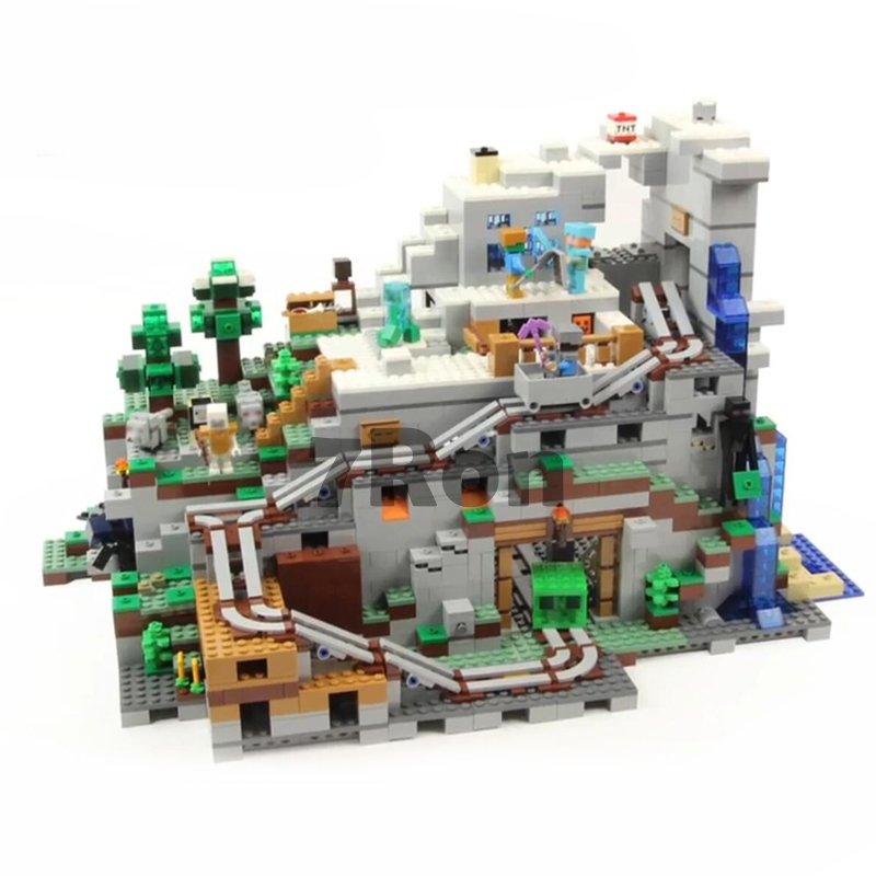 18032 Model Building Kit Blocks Bricks Miniecraft 2932pcs The Mountain Cave My worlds Compatible with lego 21137 toys hobbies игра lego worlds [ps4]
