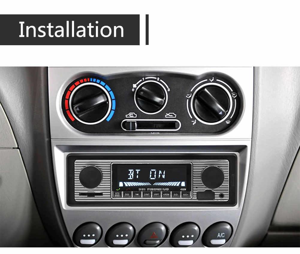 Bluetooth Auto autoradio 1DIN stéréo lecteur MP3 récepteur FM prise en charge entrée SD USB MMC + télécommande DC 12V fonction AUX