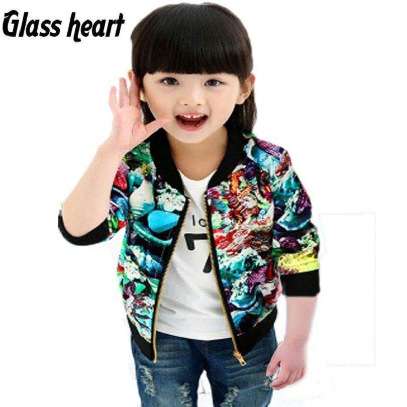 Glas herz jaquetas infantil menina frühling mädchen kinder kleidung casaco für menina jaqueta motoqueiro bomber camperas abrigo