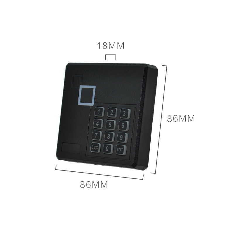 Wiegand 26 bits uniform interface keypad access control card reader for MF IC card type 13.56Mhz wiegand 26 protocal 13 56mhz rfid ic access control card reader without keypad original manufacture ic card reader door access