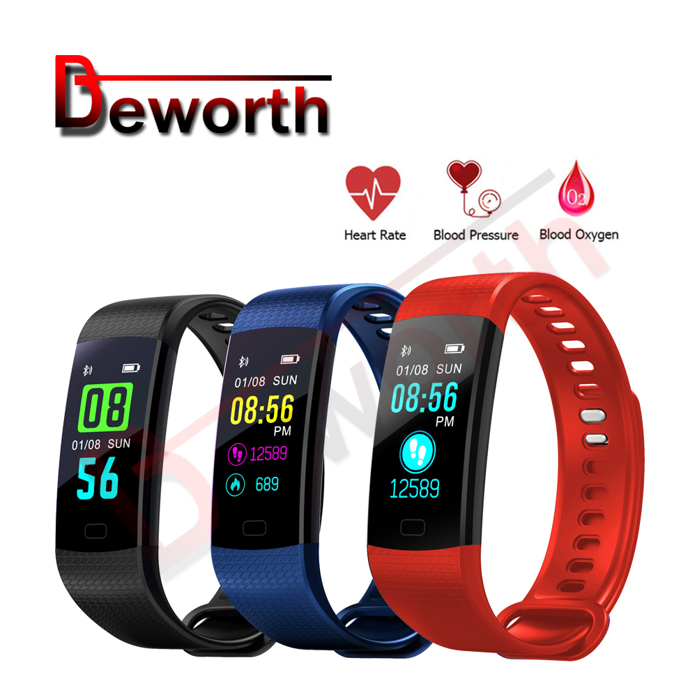 10pcs Y5 Smart Sports Band Fitness Bracelets Heart Rate Monitor Blood Pressure Smart band Color Screen