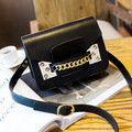 2016 women's fashion handbag shoulder bag messenger bag vintage popular mobile phone small bag chain bag black color