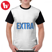 Slang T Shirt EXTRA STICKER SLANG MEME T-Shirt Printed Man Graphic Tee Shirt Funny Big Short-Sleeve 100 Percent Polyester Tshirt(China)