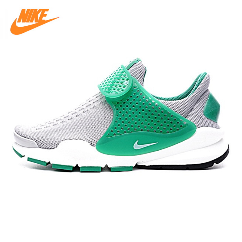 Nike Sock Dart KJCRD Men Women Running Shoes, Green, Shock Absorption Breathable Balance Lightweight 819686 004