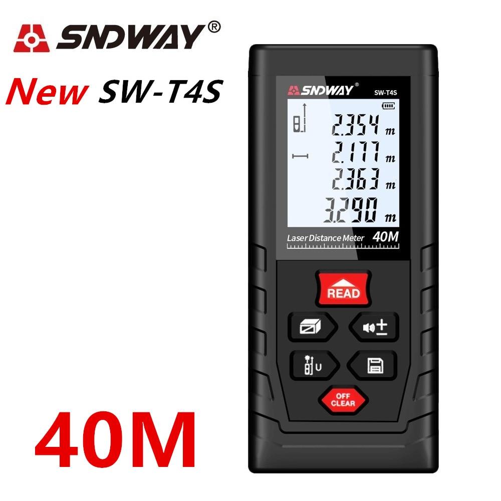 Image 5 - SNDWAY laser rangefinder distance meter 120M 100M 80M 60M 40M laser tape range finder build measure digital ruler trena roulette-in Laser Rangefinders from Tools