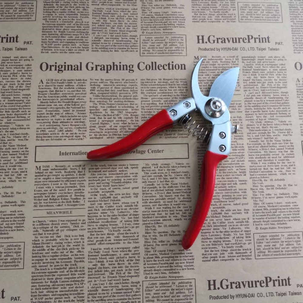 High hardness Professional Garden scissors flower twig clipers Bent Handle high manganese steel blades in Scissors from Tools