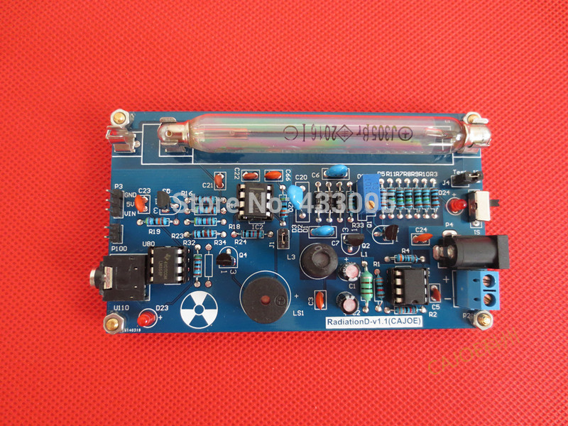Free Shipping Assembled DIY Geiger Counter Kit Nuclear Radiation Detector GM Tube