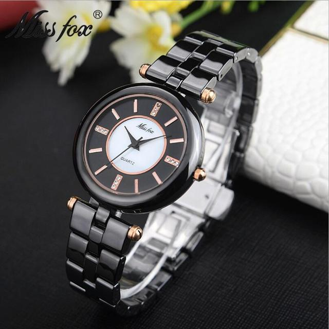 New Women White Black Ceramic Watches Luxury  High Quality Watch  Fashion&Casual Wristwatches Dress Watch Waterproof Clocks