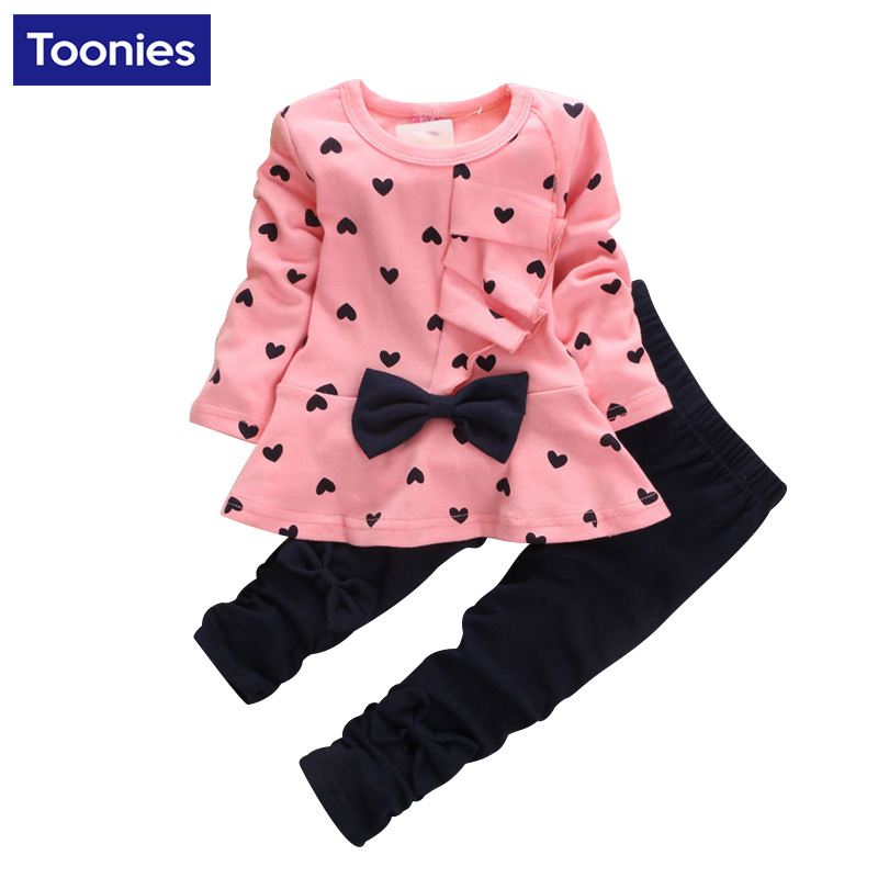 Hot Sale Girls Clothes Kids Long Sleeve T Shirt  Pants -7029