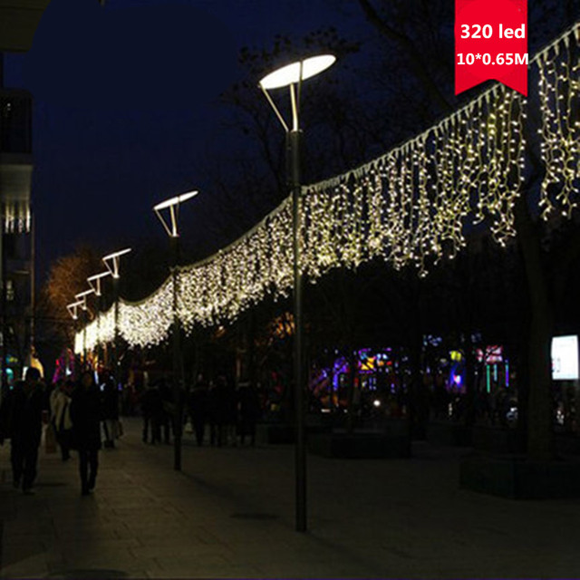 320 leds Warmweiß eiszapfen led vorhang string fairy light 320 ...