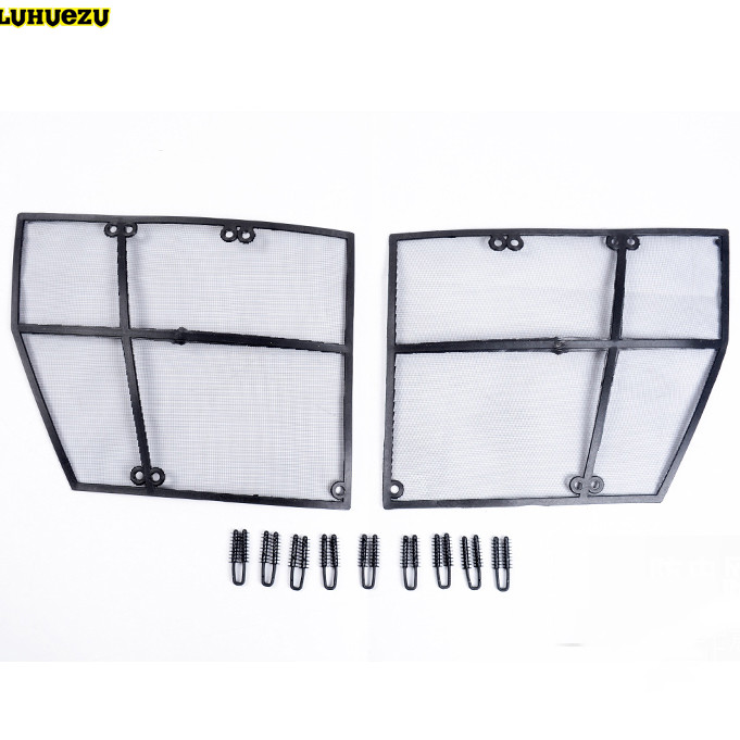 Stainless Steel Front Bumper Grille Insects Prevention Nets Cover For Nissan Patrol Armada Accessories 2013 2014 2015 2016 2017 free shipping front center grill grid grille cover trim for 2014 2016 for toyota corolla