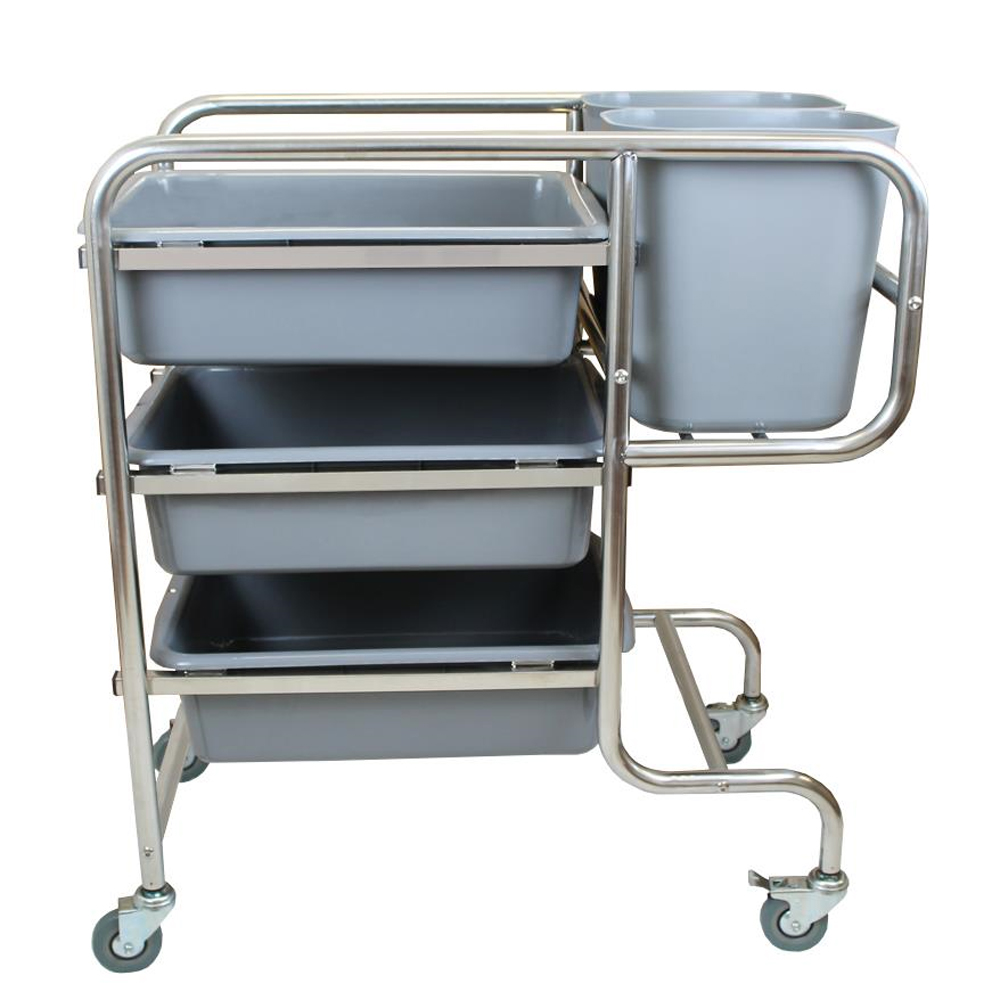 Stainless Steel 3 Tier Storage Trolley Cart Large Kitchen Shelf Trolley for Catering Hotel Restaurant Trolley