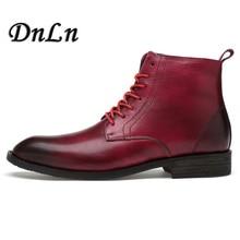 Men Fashion Ankle Boots Spring Autumn Leather High Top Shoes Leisure Botas Hombre 11#27E50 стоимость