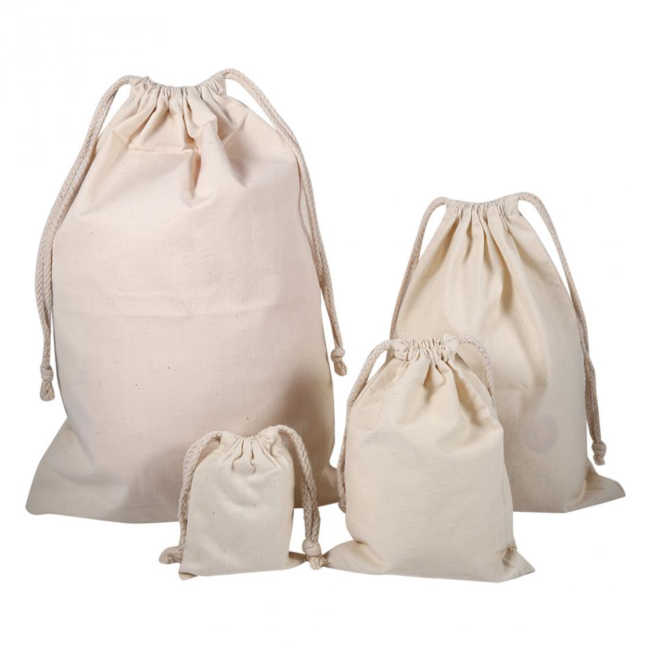 Cotton Stuff Bag Travel Drawstring Pouch Dry Storage Bag