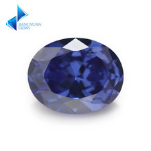 Размер 2x3 ~ 10x14 мм овальная форма синий цвет 5А фианит искусственный