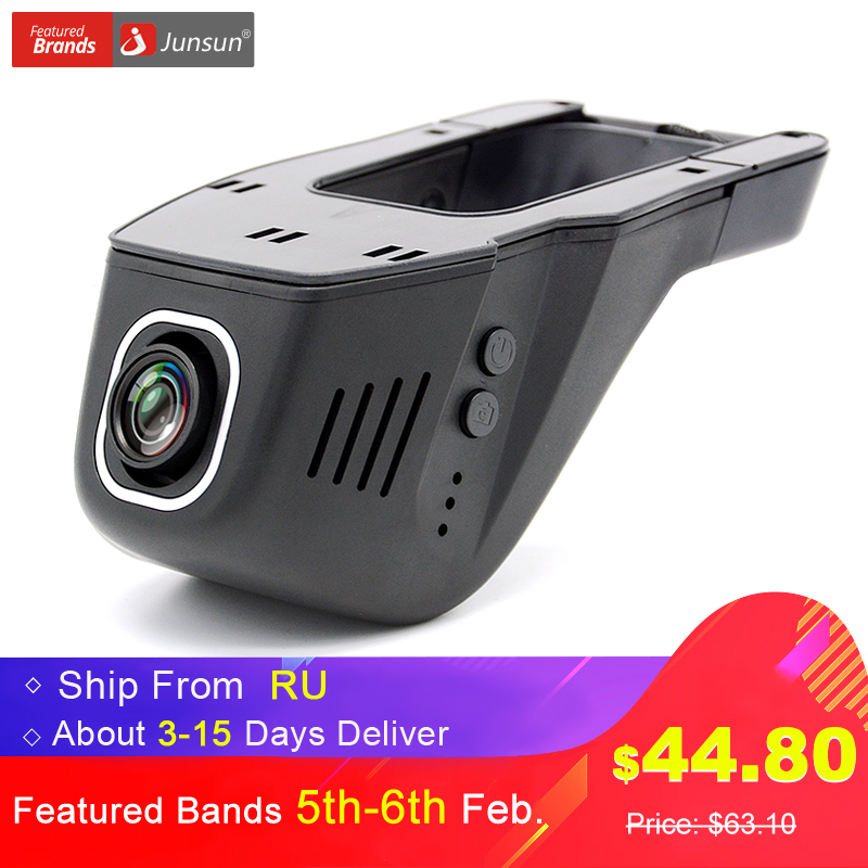 Junsun WiFi Car DVR Camera Novatek 96655 IMX 322 Full HD 1080p Universal Dashcam Video Registrator Recorder APP Manipulation junsun novatek 96655 car dvr camera video recorder full hd 1080p wireless wifi app manipulation imx 322 dash cam registrator