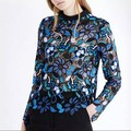[NEW VENDA] Outono e Inverno Auto-* ortrait de Renda Bordado Do Vintage Recorte Básico Camisa Top S, M, L