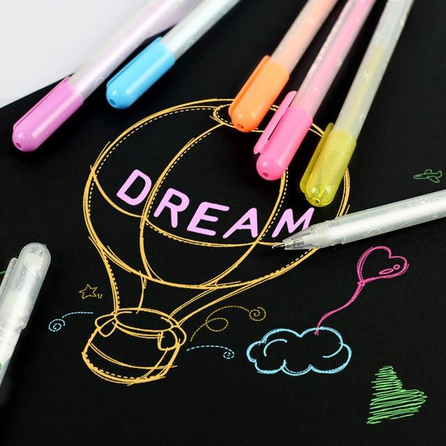 1PC DIY Colorful Highlight Pen Student Sketch Drawing Graffiti Art Markers Comic Design Hook Liner Pen Stationery Art Supplies 4