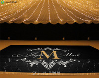 Custom Made Wedding stickers Dancing Floor Sticker Personalized bride Groom Name Floor Decals Removable Monogram Mural ZA101A