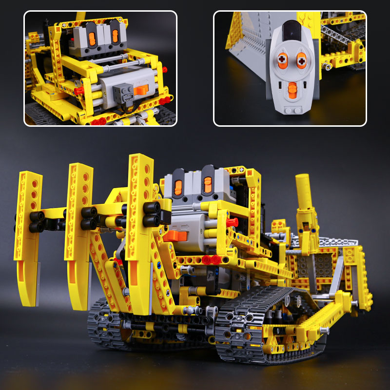 New LEPIN 20008 technic series remote contro lthe bulldozer Model Assembling Building block Bricks Toys Gifts kits with 42030 new lp2k series contactor lp2k06015 lp2k06015md lp2 k06015md 220v dc