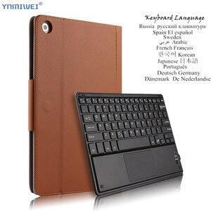 Image 1 - Coque avec clavier Bluetooth en cuir pour Huawei MediaPad M5 Pro, 10.8 pouces, CMR W09/AL09/W19, coque pour Huawei M5 10.8