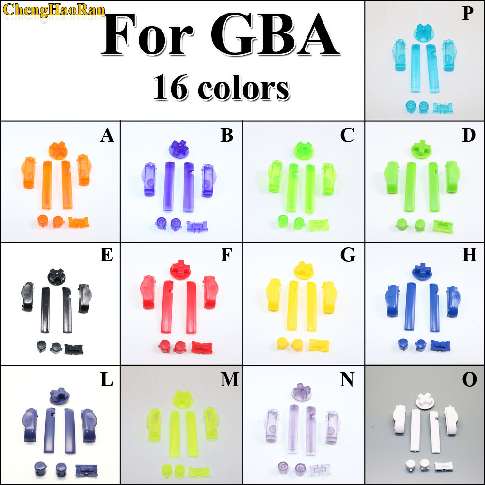 ChengHaoRan 30x 16colors A B Colorful L R Buttons Keypads for Gameboy Advance Buttons Frame for GBA D Pads Power ON OFF Buttons-in Replacement Parts & Accessories from Consumer Electronics