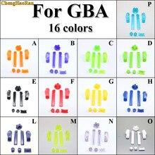 Chenghaoran 30x 16 색 a b 다채로운 l r 버튼 키패드 gba d 패드 용 게임 보이 어드밴스 버튼 프레임 전원 켜기 끄기 버튼