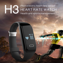 New Smart Bracelet H3 Wristband Heart Rate Monitor Bluetooth 4.0 Passometer Sports Fitness Tracker Smartband For IOS Android