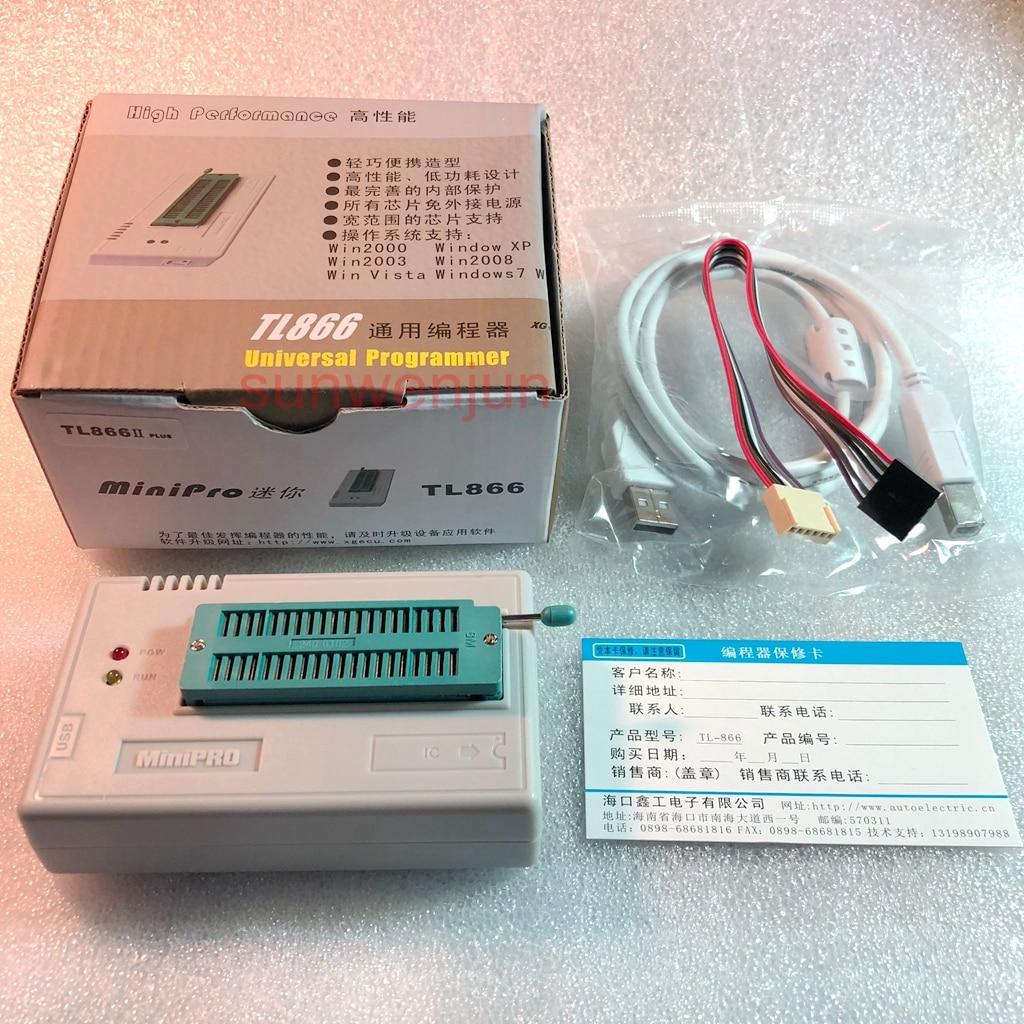 V9.00 xgecu tl866ii plus suporte ao programador usb 15000 + ic spi flash nand eeprom mcu pic avr substituir tl866a tl866cs