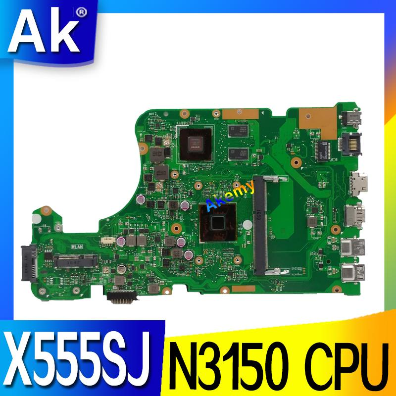 X555SJ Notebook Motherboard N3150 CPU For ASUS X555 X555S X555SJ A555S laptop Motherboard X555SJ Mainboard X555SJ motherboardX555SJ Notebook Motherboard N3150 CPU For ASUS X555 X555S X555SJ A555S laptop Motherboard X555SJ Mainboard X555SJ motherboard