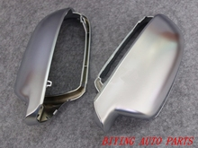 1 pair For Audi A4 A3 S4 B9 A5 S5 Side Assist Support matt chrome Silver mirror case rearview mirror cover shell lexucar matt chrome car rearview silver side mirror covers cap s line b8 5 b 8 5 for audi a3 a4 a5 2011 2016