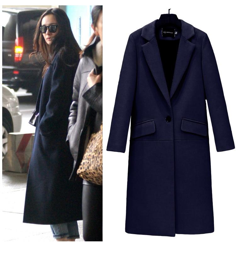 Uwback 2018 Wiosna Marka Trench Coat Kobiety Długi Prosto Płaszcz - Ubrania Damskie - Zdjęcie 5