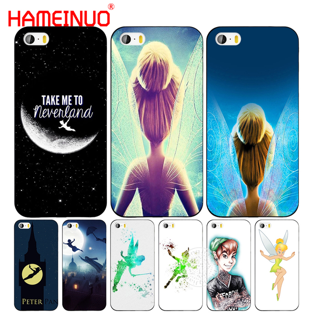 new products baad5 6cf47 US $1.93 34% OFF|HAMEINUO tinkerbell and peter pan cell phone Cover case  for iphone 6 4 4s 5 5s SE 5c 6 6s 7 8 plus case for iphone 7 X-in ...