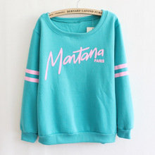 2016 New Casual Personality Thick Section Round Neck Women Fleece Sweatshirts Thick Section Light Grey Green White As1556