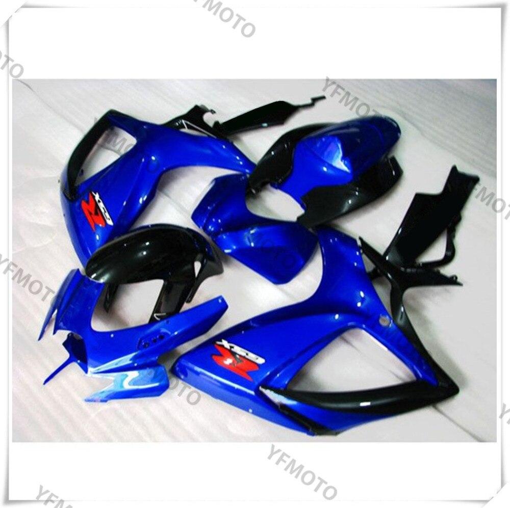 Motorcycle ABS Dark Blue Fairing Body Work  Cowling For SUZUKI GSXR600-750 GSXR 600 750 K6 2006-2007 +4 Gift new motorcycle ram air intake tube duct for suzuki gsxr600 gsxr750 2006 2007 k6 abs plastic black
