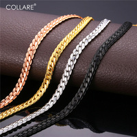 18K Real Gold Plated Necklace Chain Men With 18k Stamp Free Shipping 2015 New Snake Chain